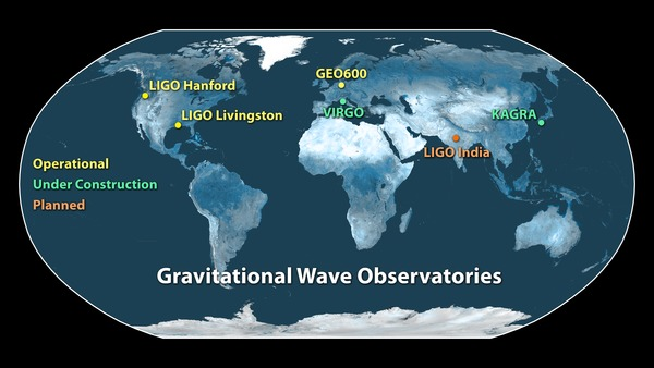 Network of gravitational-wave observatories during LIGO's first observing run.