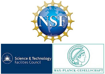 Logos of NSF, Science and Technology Facilities Council, Max Planck Society