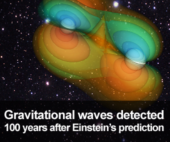 Gravitational waves detected 100 years after Einstein's prediction