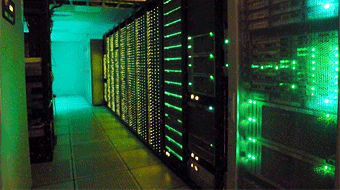 A photo of LIGO data computer cluster at Caltech.