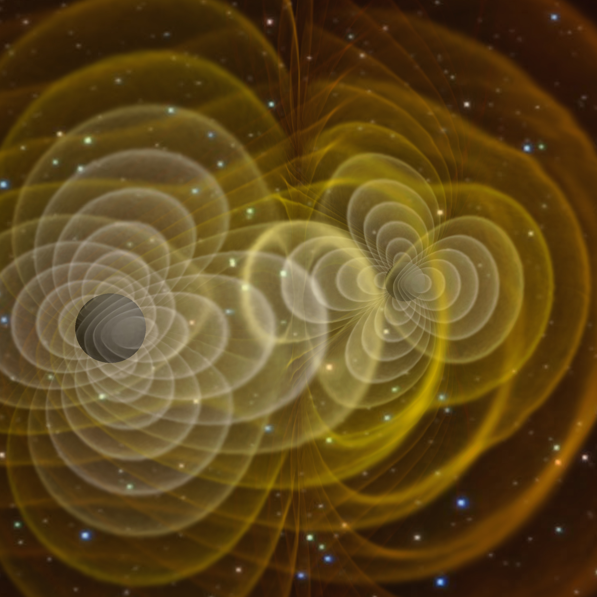 Gravitational waves produced by 2 orbiting black holes