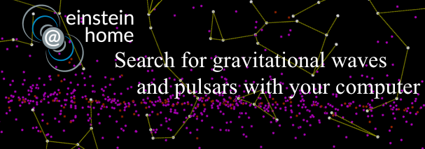 Einstein@home: search for gravitational waves and pulsars with your computer