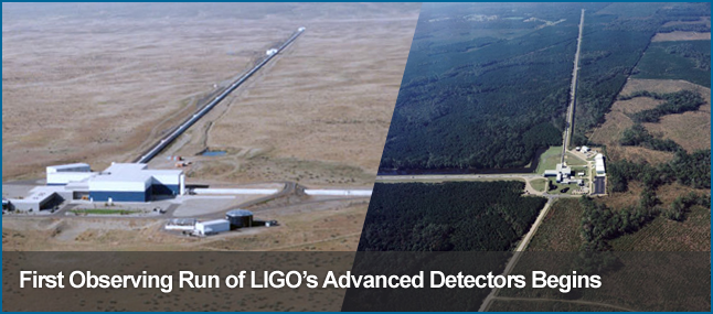 LIGO begins its 1st Observing Run