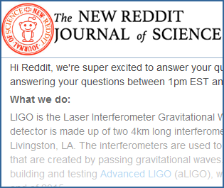 LIGO AMA on reddit